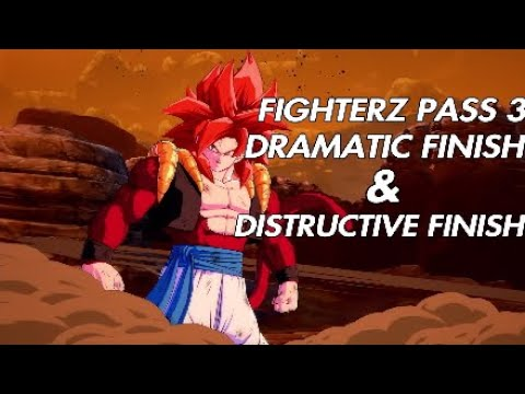 Dragon Ball Fighterz - FIGHTERZ PASS 3 Dramatic Finish & Distructive Finish |