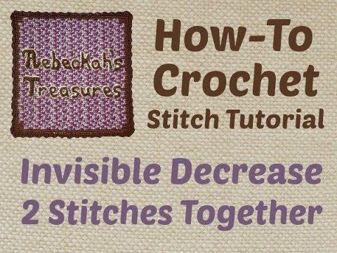 Invisible Decrease (sc2tog, dc2tog, tr2tog & hdc2tog) - Crochet Stitch Tutorial