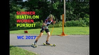 SUMMER BIATHLON WOMEN PURSUIT 27.08.2017 World Championship Chaikovsky (Russia)