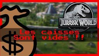 """LES CAISSES SONT VIDES 😰 😭 """" #Jurassic World Évolution"""""""
