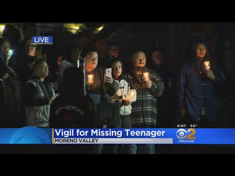 Vigil Being Held For Missing Moreno Valley Teen