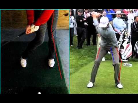 Golf swing analysis - leg action