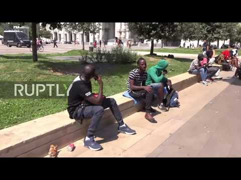 Italy: Police detain dozens of migrants camped at Milan Central Station