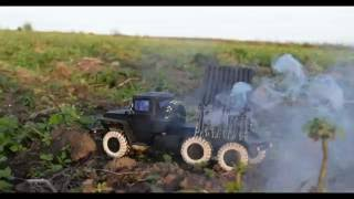 Working paper model of mobile rocket launcher BM-21 Grad/Действующая бумажная модель РСЗО БМ-21 Град