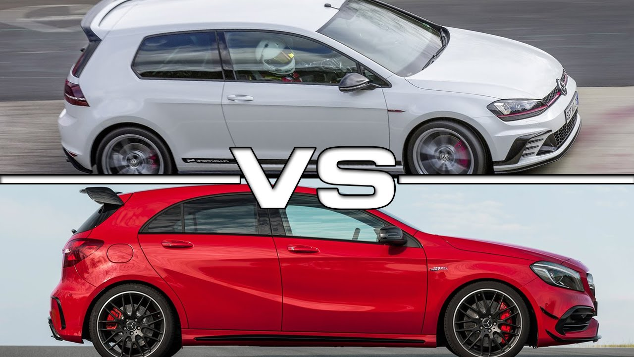 2017 vw golf gti clubsport s vs mercedes amg a45 youtube. Black Bedroom Furniture Sets. Home Design Ideas