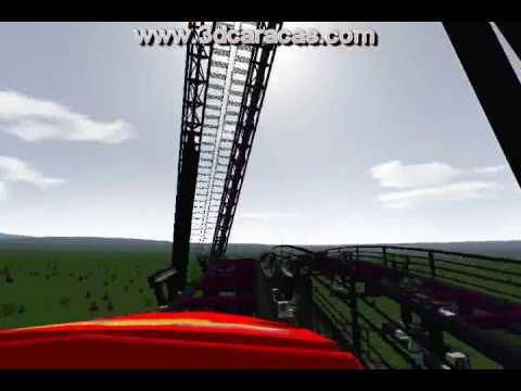 Simulacion montaña rusa 3d  roller coast