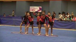 2016年全港學界藝術體操比賽  小學組 集體5人圈 佐敦谷