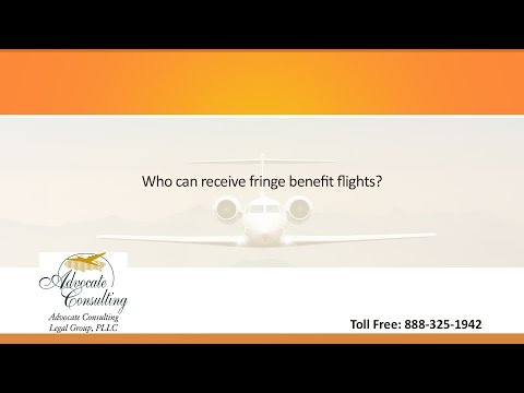 Who can receive fringe benefit flights?