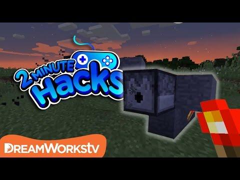 How To Build A Machine Gun In Minecraft | 2 MINUTE HACKS