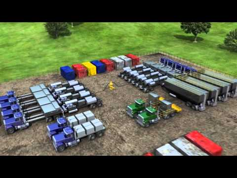 3D Animation Onshore Gas Drilling