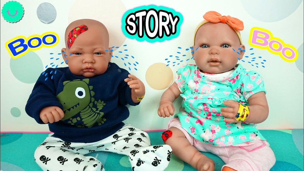 La Boo Boo Story de Andrea y Andrés los Bebés Reborn de Juguete