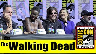the walking dead comic con 2018 full panel andrew lincoln norman reedus lauren cohan