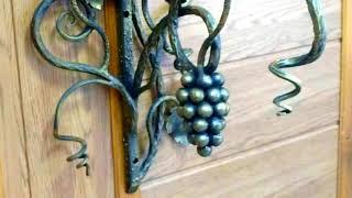 Кованая виноградная гроздь, виноград из шариков от подшипника фото видео