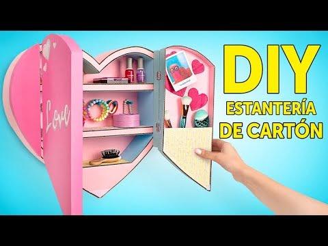 Una estantería de cartón para organizar tus accesorios 💍