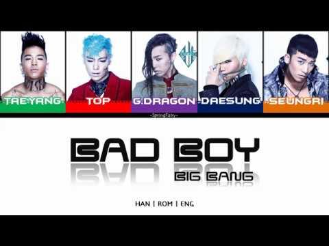 BIGBANG - BAD BOY (Han|Rom|Eng Color Coded Lyrics)