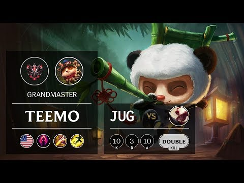 Teemo Jungle vs Lee Sin - NA Grandmaster Patch 9.23