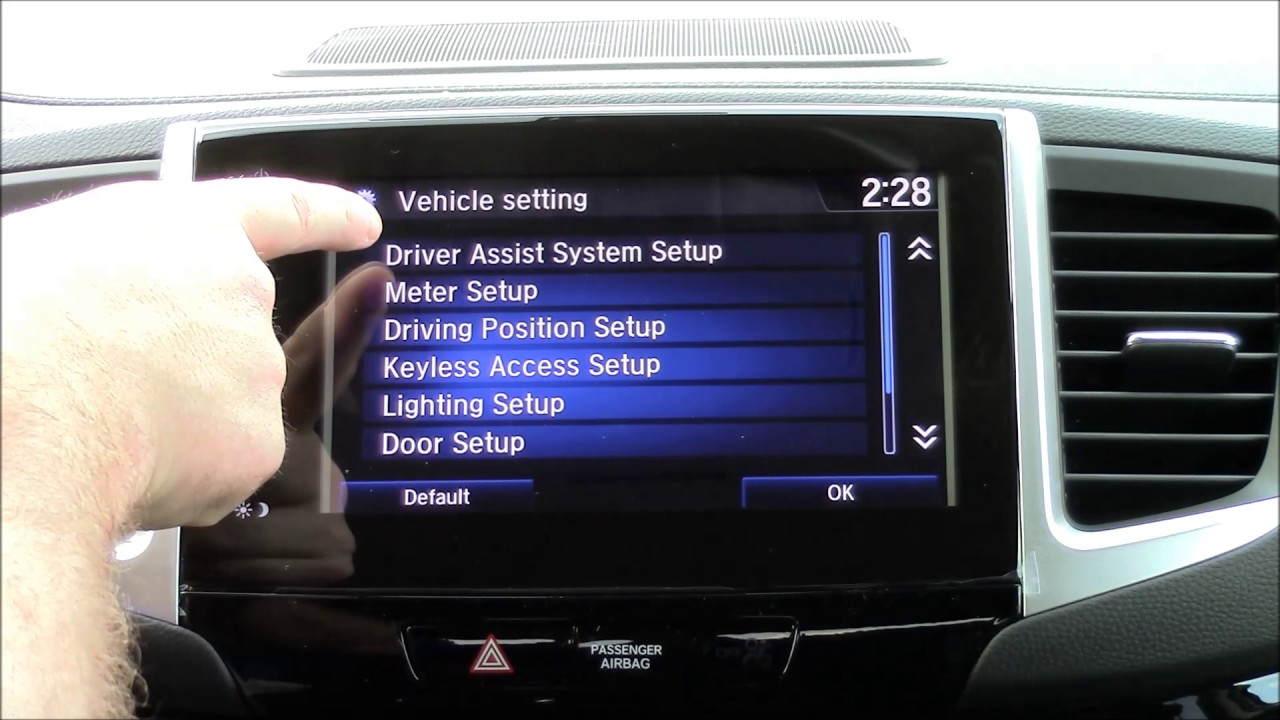 2017 Honda Pilot Forward Collision Warning Settings - YouTube