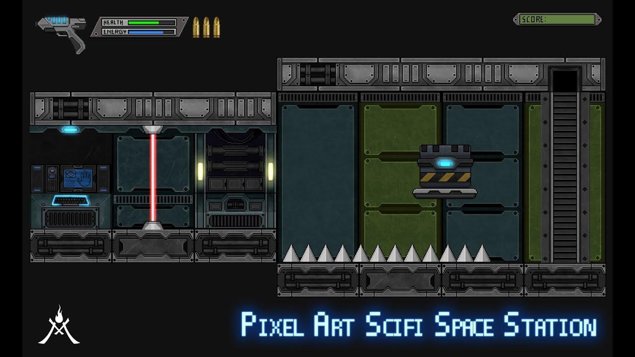 2D Pixel Art Scifi Space Station - YouTube