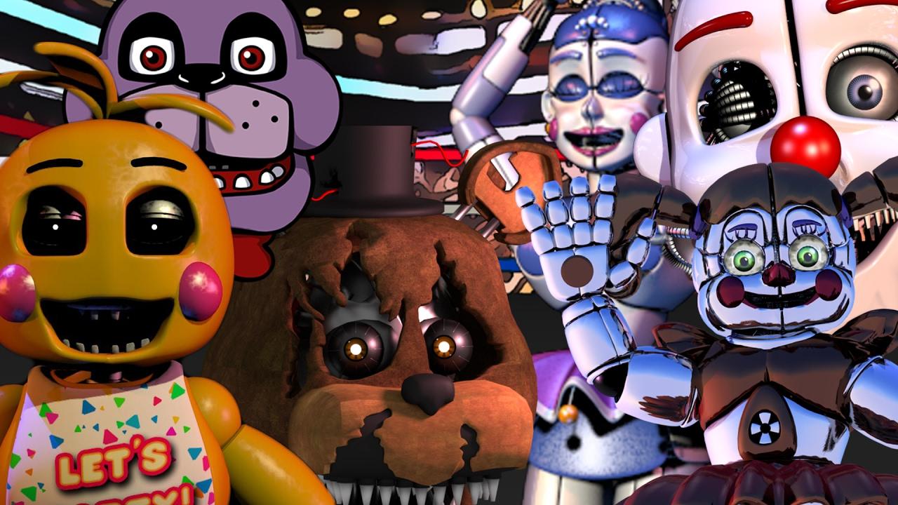 Five Nights At Freddy S Vs Fnaf Sister Location Wwe 2k17