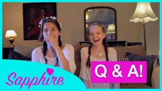 Saying the Alphabet Backwards & Celeb Crushes | Q&A - Sapphire