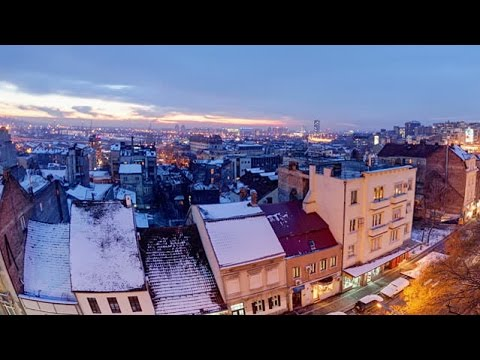 Winter in Belgrade, capital of the Balkans