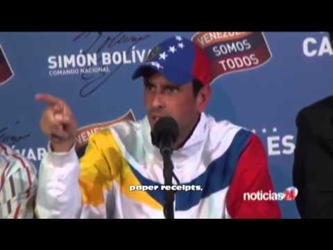 Henrique Capriles Press Conference - Audit Request (English Subtitles)