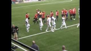 Crusaders FC v Fulham Europa League 2011/12 @Seaview , Belfast
