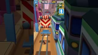 Video Game: Subwaysurfers Tasha character challenge on lane
