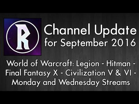 Channel Update for September 2016