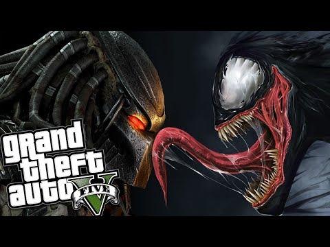 THE PREDATOR VS VENOM MOD w/ SUPER POWERS (GTA 5 Mods Gameplay)