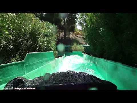 Log Jammer (HD POV) Six Flags Magic Mountain California