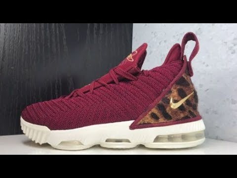c668579460e33a NIKE LEBRON 16 KING SNEAKER DETAILED LOOK - YouTube