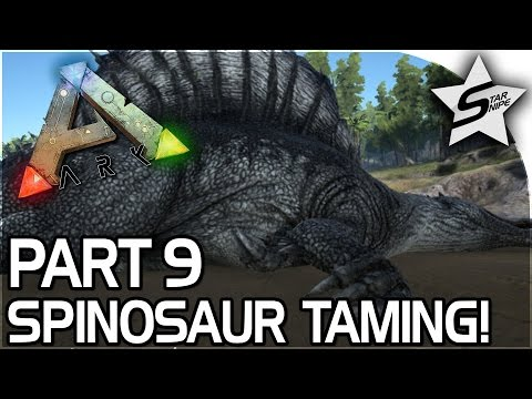 SPINOSAURUS TAMING, REX SURPRISE! - ARK Survival Evolved PS4 PRO Gameplay Part 9