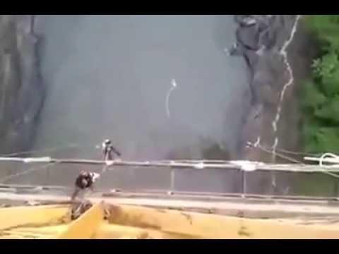 Girl Survives Bungee Jump!!! (Rope Breaks)