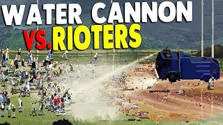 RIOT POLICE USE WATER CANNON ON PROTEST | Riot: Civil Unrest Gameplay