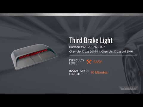 Chevy Cruze Third Brake Light Assembly Installation Video By Dorman Products