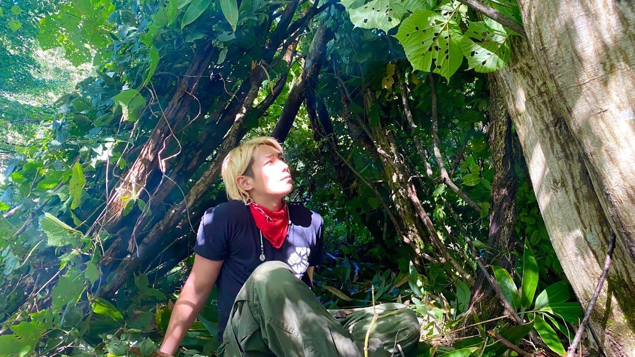 山にこもってジャングルでサバイバル生活をしてみた。