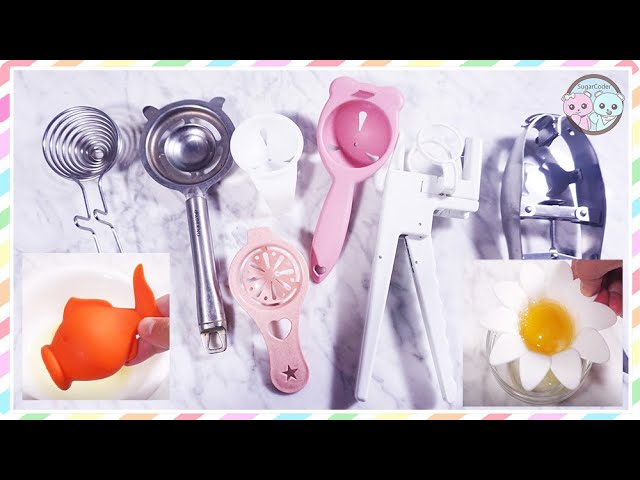 HOW TO SEPARATE EGG WHITES & EGG YOLKS, EGG SEPARATORS TOOL PRODUCT TESTING REVIEW