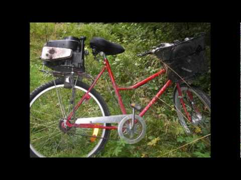 bicycle with lawn mower engine youtube. Black Bedroom Furniture Sets. Home Design Ideas