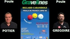 Finale de France Libre N3 Gravelines 2019 - Séance 5 - Billard 1