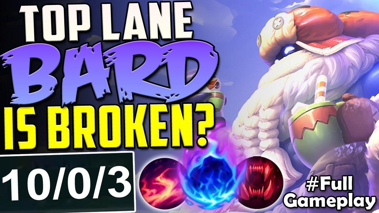 Top Lane Bard Is Broken One Hit One Shots New Runes Bard Top