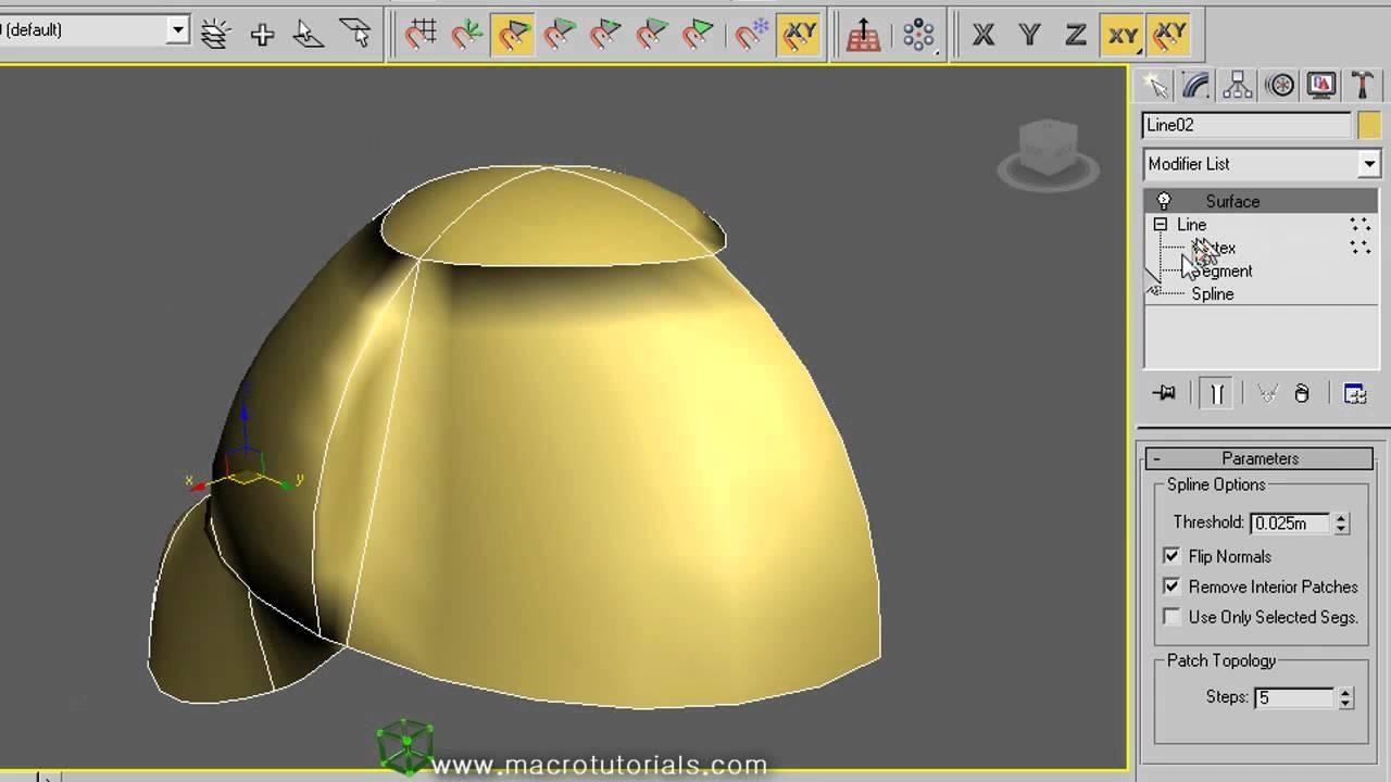 3d studio max como modelar una gorra con los for Modelar habitacion 3d max