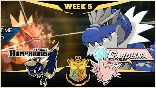 HEADSMASH EVERYTHING!! St. Louis Rampardos vs Carolina Clefables  | APA Week 5 | Pokemon USUM