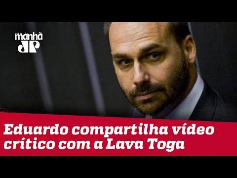 Eduardo Bolsonaro compartilha vídeo crítico com a CPI da Lava Toga