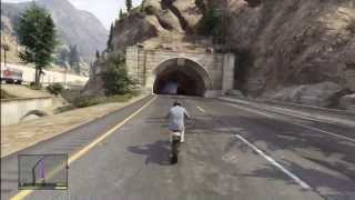 GTA 5: RIDING DIRT BIKE FROM TOP OF THE MAP TO THE BOTTEM