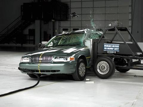 2006 Ford Crown Victoria Side Iihs Crash Test Youtube