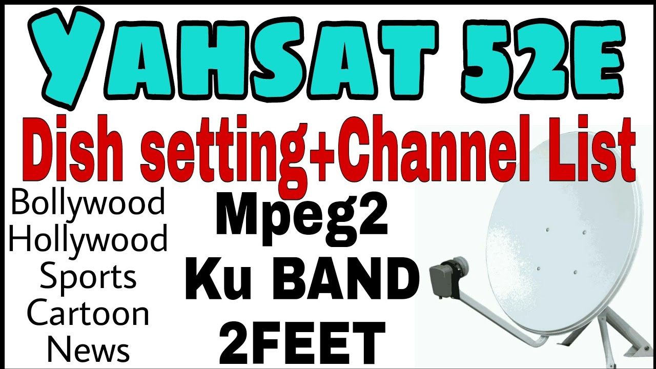 Yahsat 52e setting and channel list|WWE on DTH|DTH trick to Add  channel|yahlive satellite|ka band