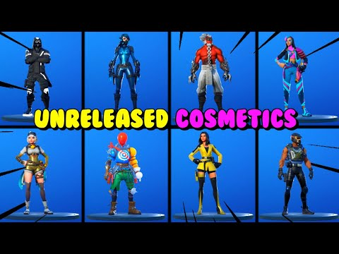 ALL UNRELEASED SKINS & COSMETICS In Fortnite - RELEASE IN CHAPTER 2 SEASON 3?