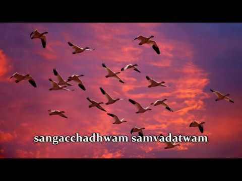 Sangachadwam - Sab ke sath - Rig ved shlok with lyrics - for Global peace composed by Pt.Ram Dixit