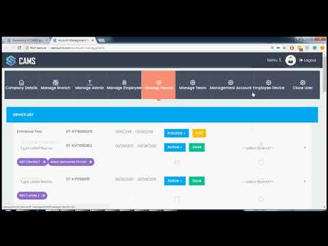 CAMS - Cloud Enabled Biometric Attendance System Demo - YouTube